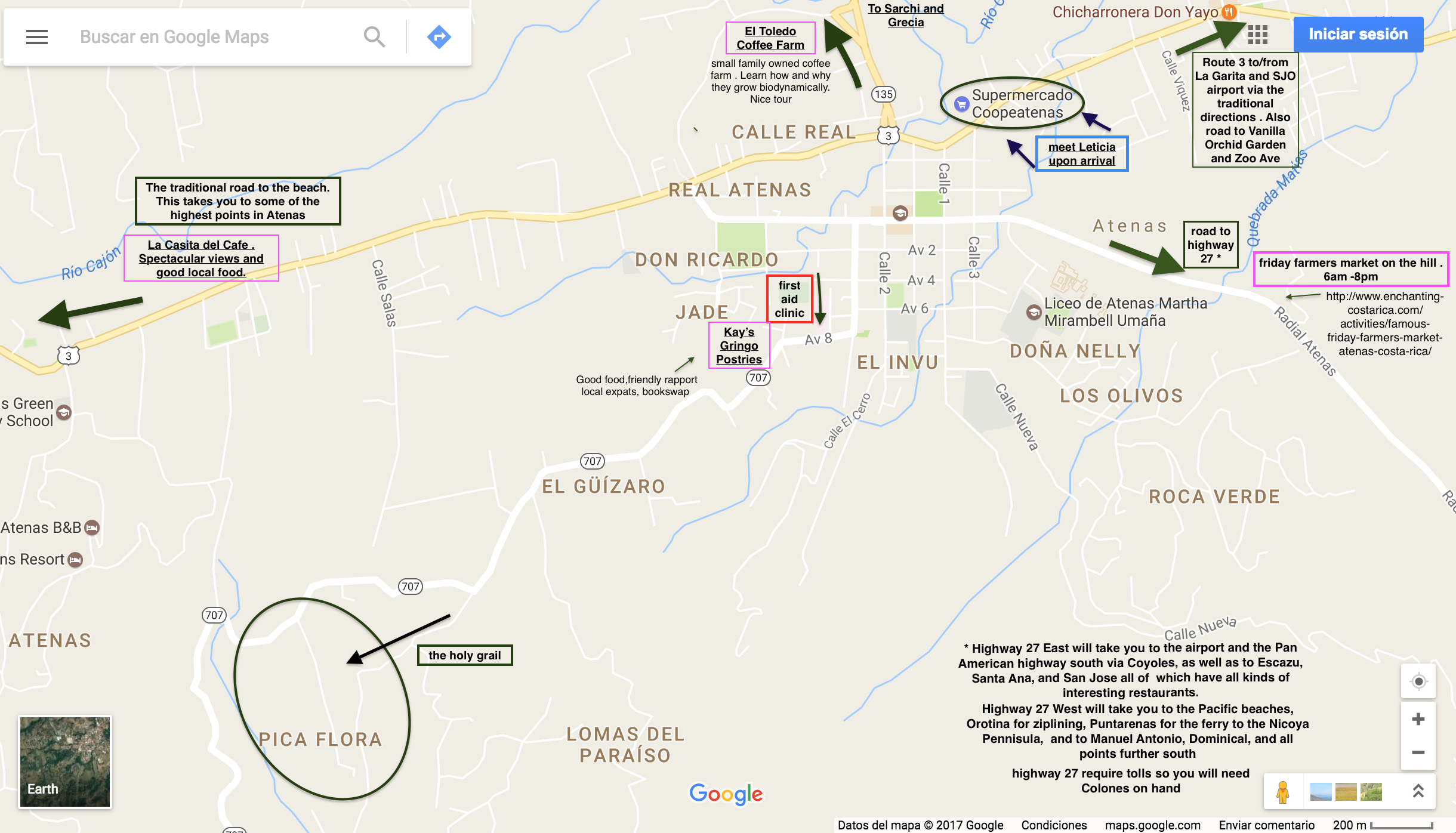google map of Atenas